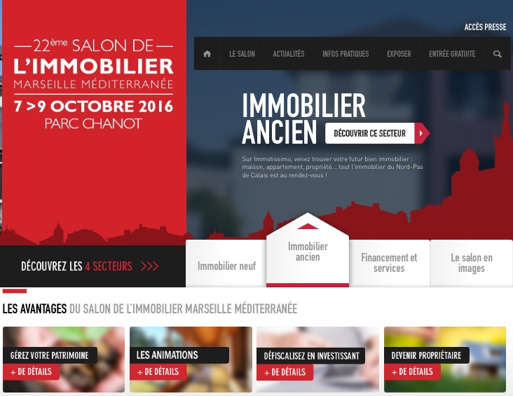 Salon immobilier de marseille provence du 7 au 9 octobre for Salon de l immobilier marseille