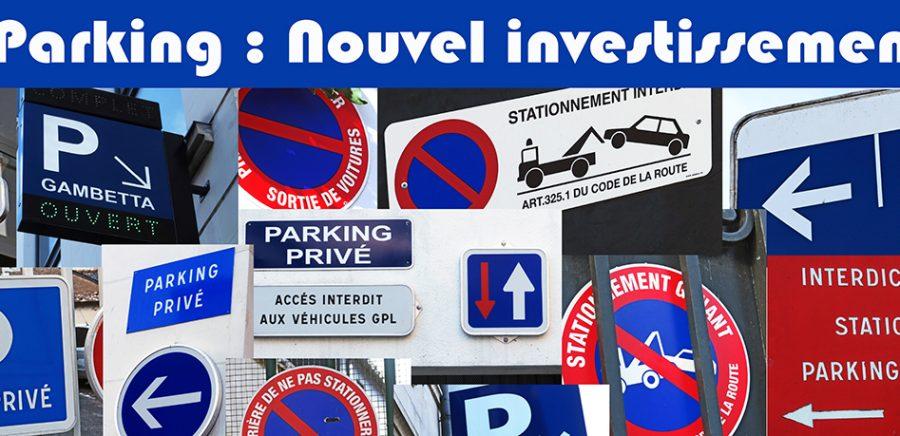 Parking : le nouvel investissement